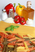 Ingredients for a pasta meal — Stock Photo