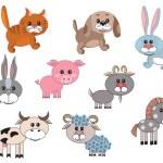 Farm animals,set — Stock Vector