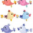 Set fish - Stock Vector