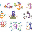 Stock Vector: Numbers set