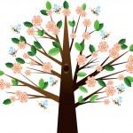Cherry tree — Stock Vector