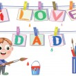 Dad day — Stock Vector
