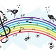 Music rainbow — Stock Vector