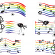 Music rainbows set — Stock Vector #5738117