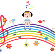 Stock Vector: Music rainbow