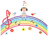 Music rainbow — Stock Vector
