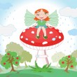 Royalty-Free Stock Vector Image: Forest fairy