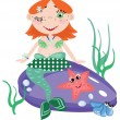 Stock Vector: mermaid