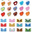 Butterflies set — Stock Vector