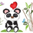 Royalty-Free Stock Vektorgrafik: Background with panda bear