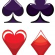 Stock Vector: Playing card symbols