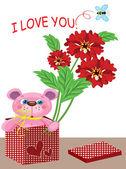 Cartão de valentine — Vetor de Stock