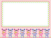 Background with cute little bears — Stock Vector
