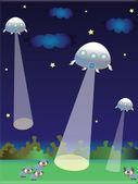 UFO illustration — Stock Vector