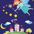 Fairy or princess — Stock Vector