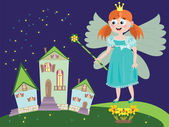 Fairy or princess — Stock Vector