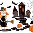 Halloween,set — Stock Vector
