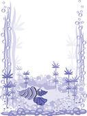 Aquarium frame — Stock Vector