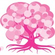 pink tree — Stock Vector