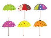 Regenschirme satz — Stockvektor