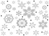 Christamas snowflakes — Stock Vector