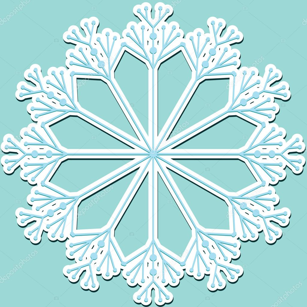 Christamas sticker with snowflake.  Stock Vector #6133759