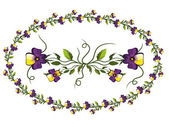 Decor with pansies — Stock Vector