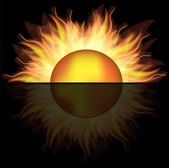 Vector sun logo,used mesh. — Stock Vector