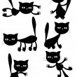 Royalty-Free Stock Vector Image: Vector black cats