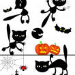 Vector halloween elements. — Stock Vector