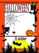 Vector tarjetas de halloween — Vector de stock