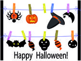 Vector halloween background — Stock Vector