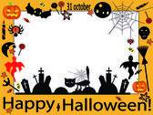 Vector Halloween frame — Stock Vector