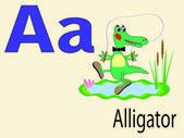 Zvířecí abeceda a, vektor — Stock vektor