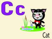 Animal alphabet C ,vector — Stock Vector