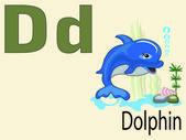 Animal alphabet D ,vector — Stock Vector