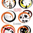 Vector Halloween icons — Stock Vector