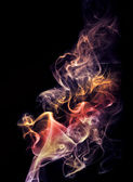 Colourful smoke — Stock Photo