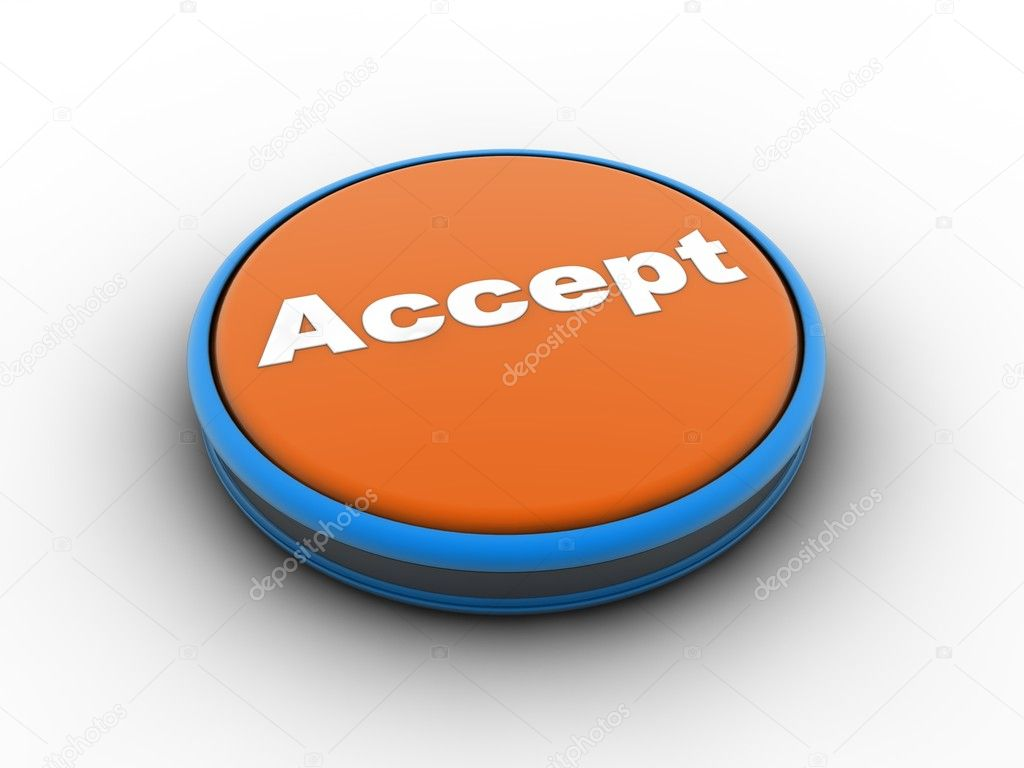 Accept3d button  Stock Photo #5610252