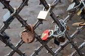 Locks of married lovers. — Stock Photo