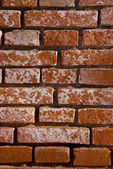Red brick wall fragment. — Stock Photo