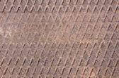 Rusty metal bridge fragment. — Stock Photo