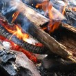 Stock Photo: Wood fire