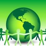 Lets Go Green — Stock Vector