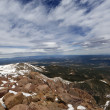 Pikes Peak view from the top — Stock Photo