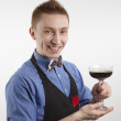 A man with a glass — Stock Photo #5403327