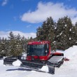 Crawler ratrack near ski-route in mountains — Stock Photo #5559970