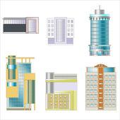 Drawings of buildings — Stock Vector
