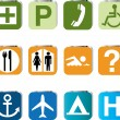 Stock Vector: Tourist locations icon set - VECTOR