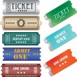 Stock Vector: Set of ticket admit one vector